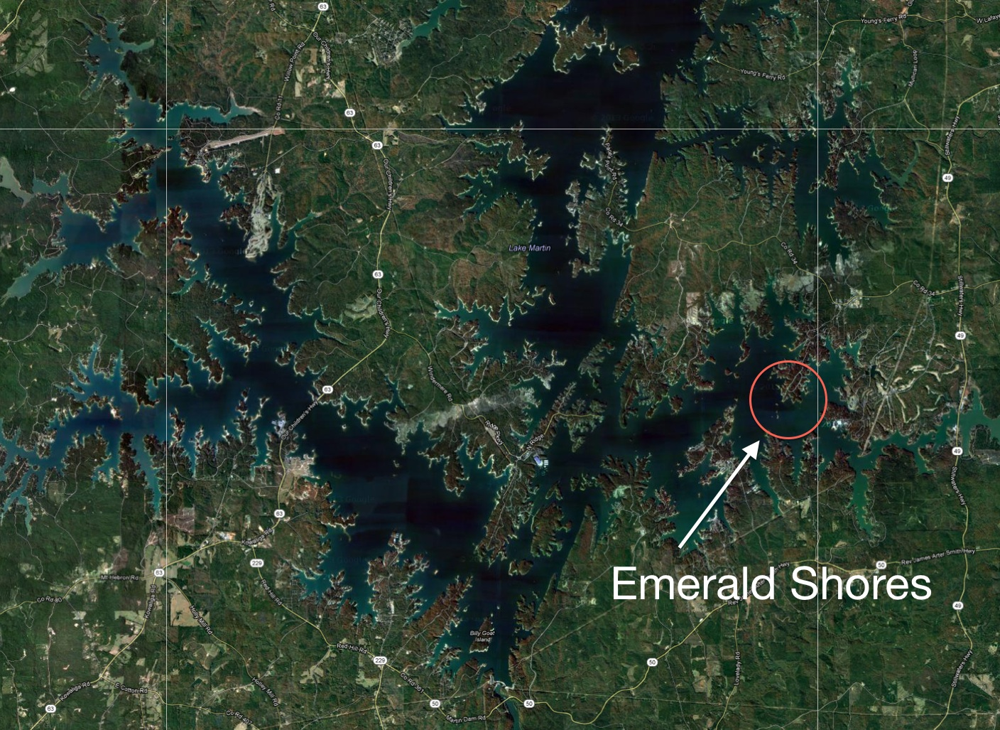 Emerald Shores Sat Map