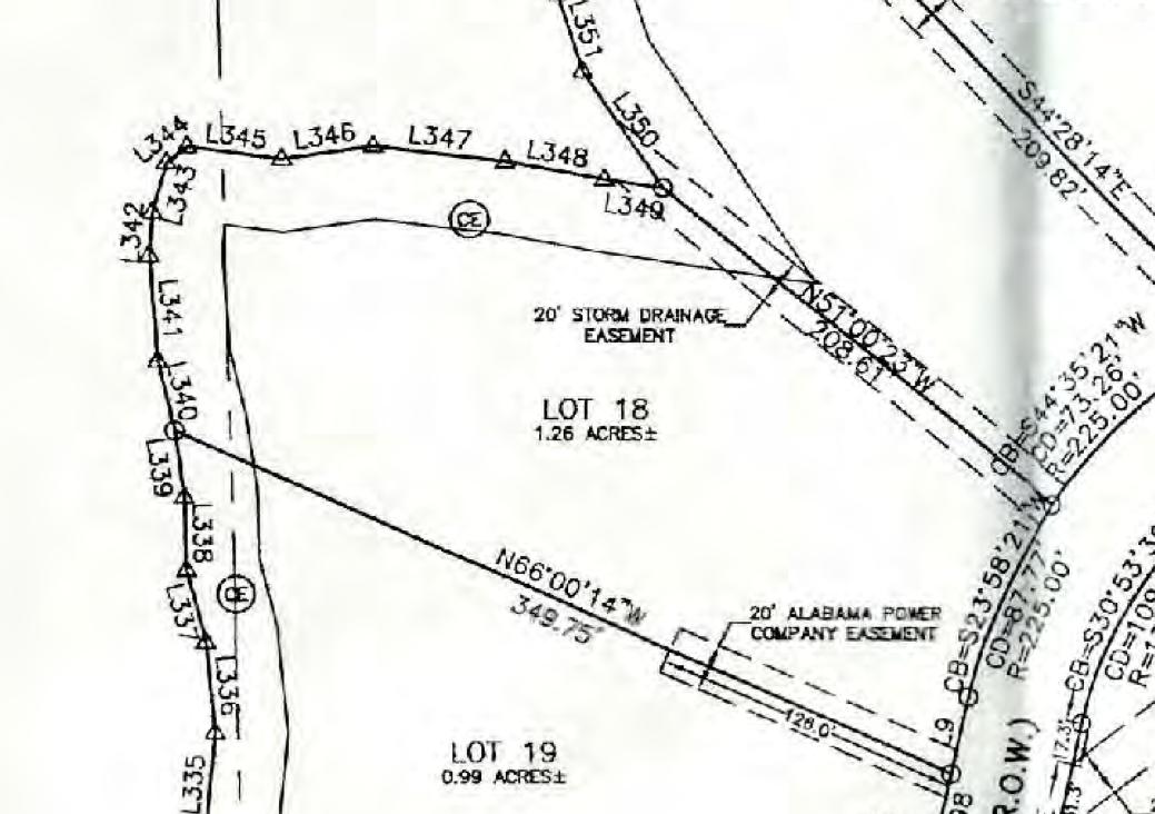 Map of Lot #18 Emerald Shores