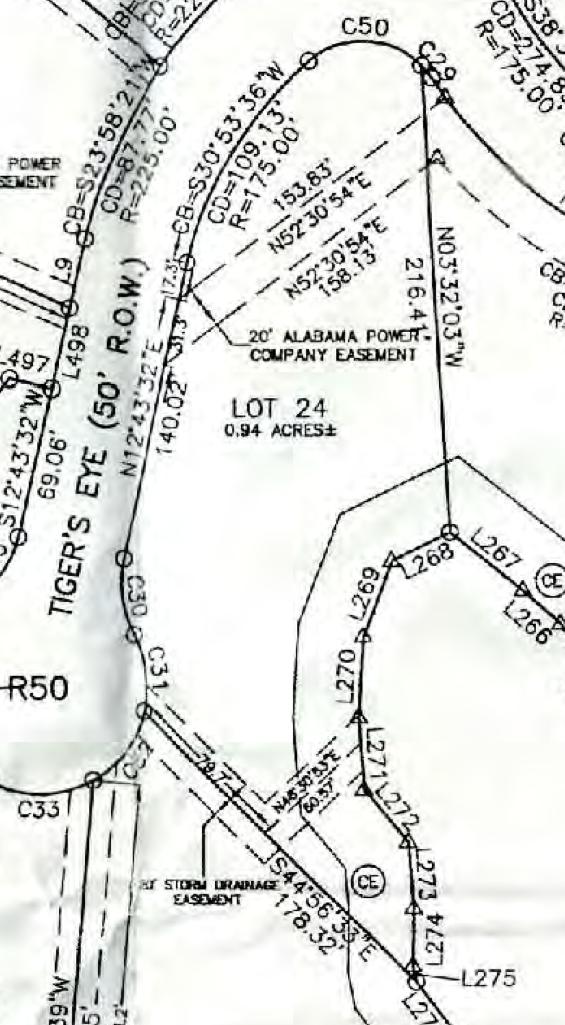 Map of Lot #24 Emerald Shores