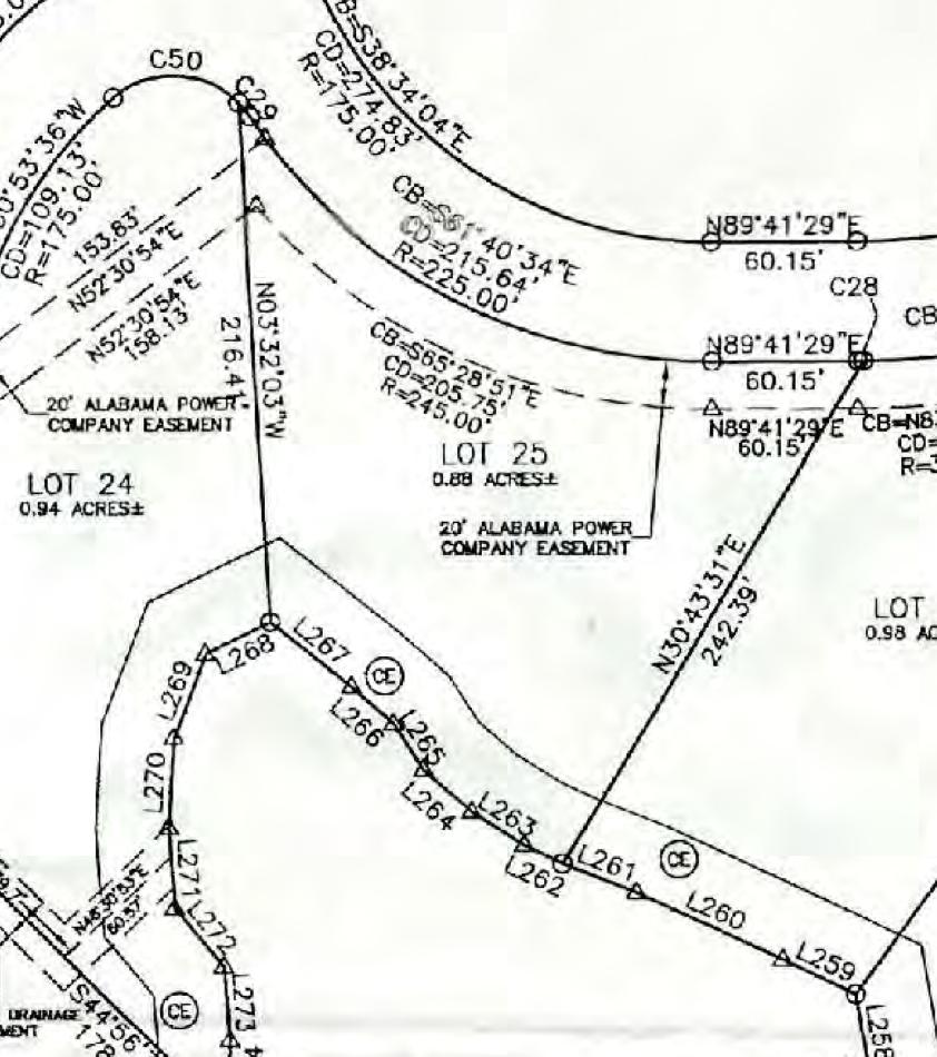 Map of Lot #25 Emerald Shores