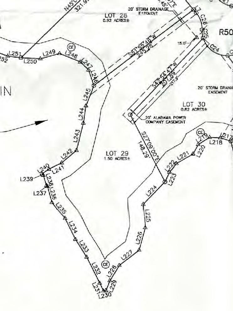 Map of Lot #29 Emerald Shores