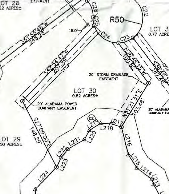 Map of Lot #30 Emerald Shores