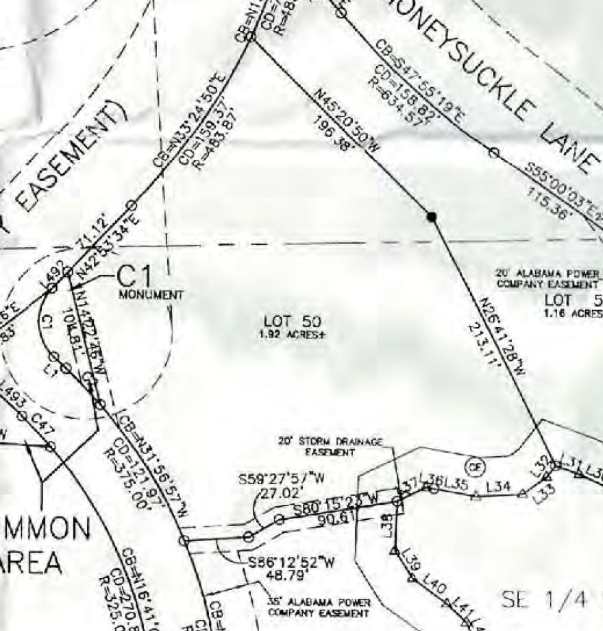 Map of Lot #50 Emerald Shores