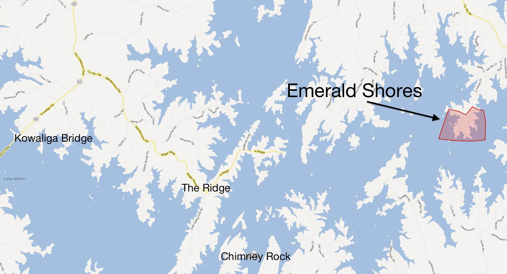 Emerald Shores on Lake Martin
