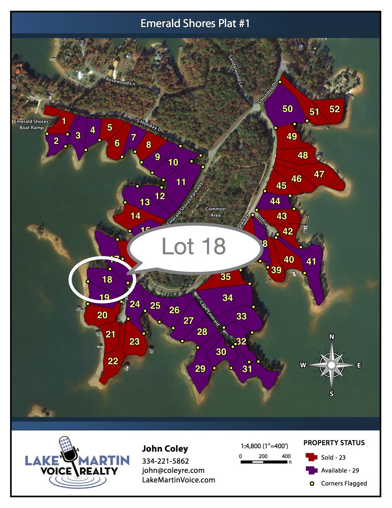Lot 18 Emerald Shores Map
