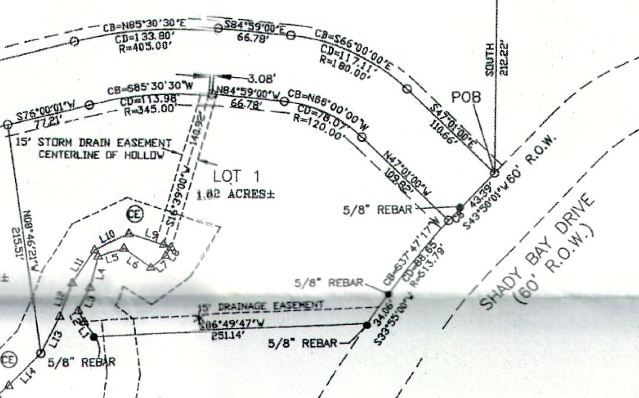 Lot 1 Shady Bay Map