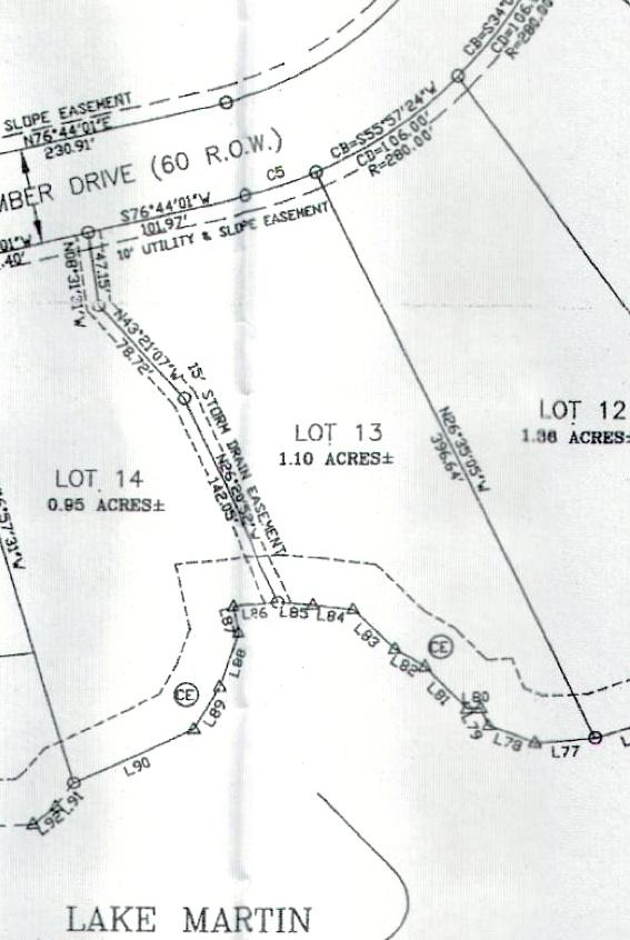 Lot 13 Shady Bay Phase 2 Map