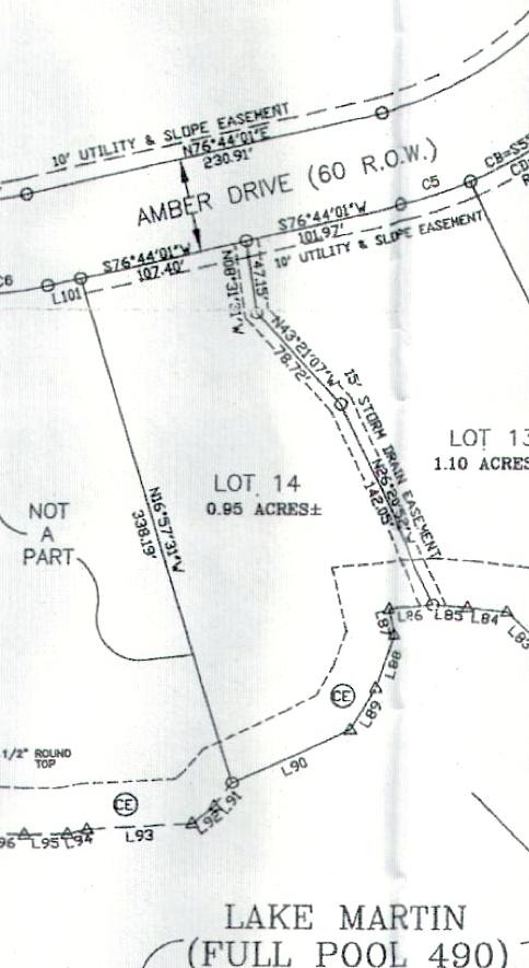 Lot 14 Shady Bay Phase 2 Map
