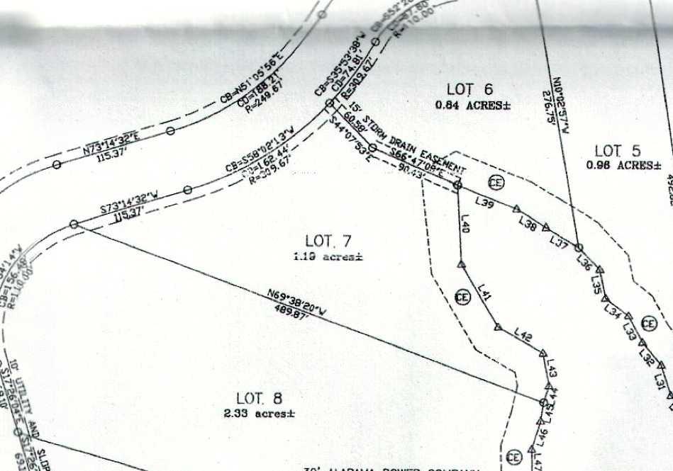 Lot 7 Shady Bay Phase 2 Map