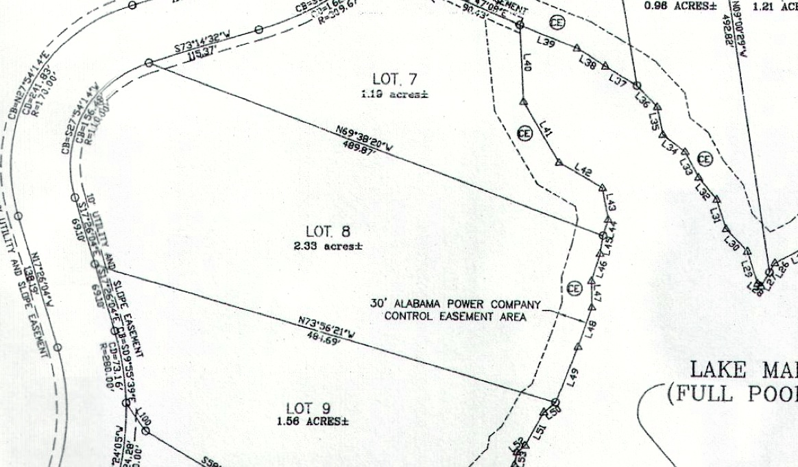 Lot 8 Shady Bay Phase 2 Map