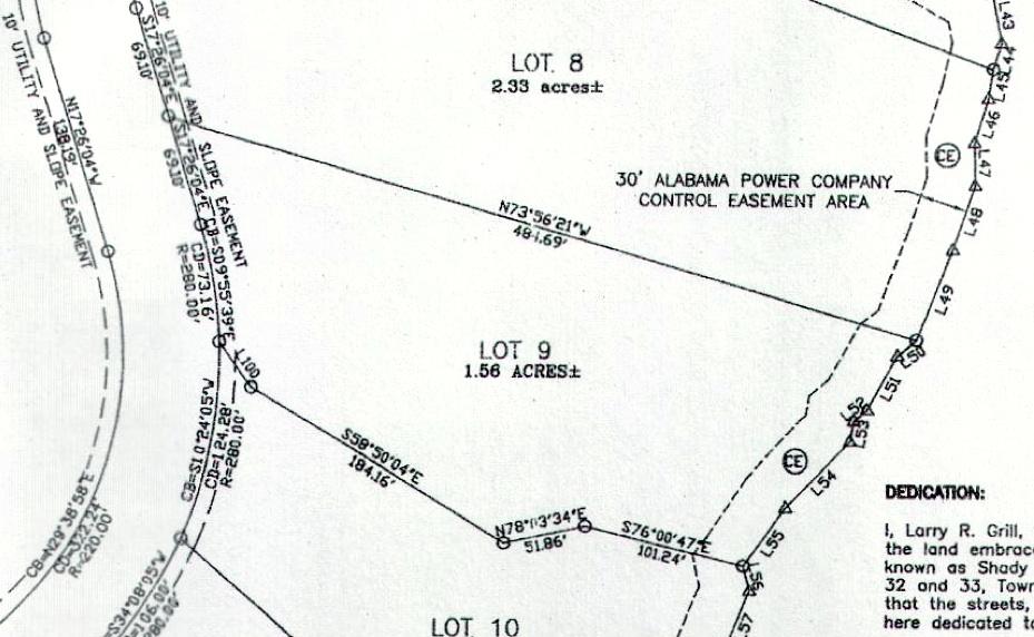 Lot 9 Shady Bay Phase 2 Map