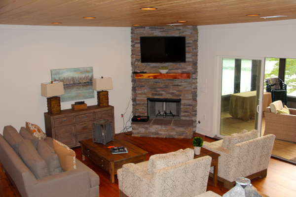 fireplace in remodel