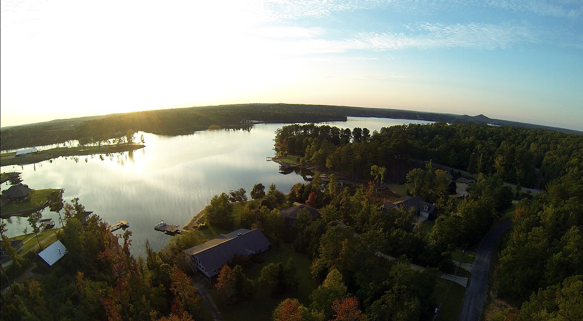 aerial shot of lake martin by quadcopter
