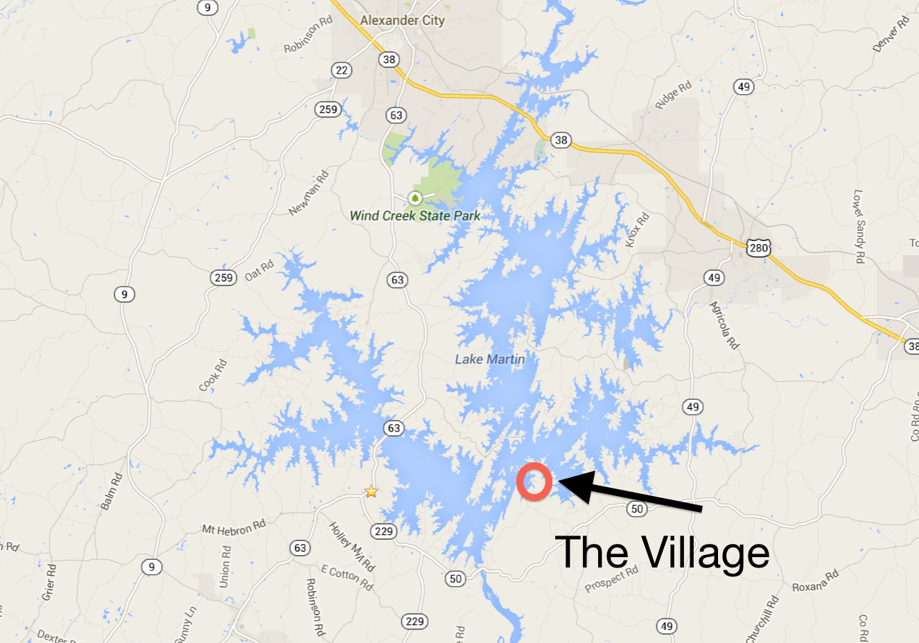 52 Cottage Loop in The Village on Lake Martin