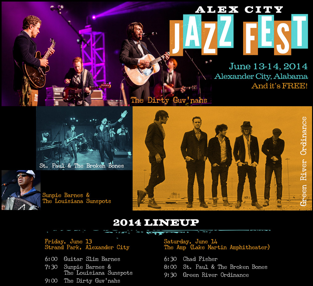 2014 Alex City Jazz Fest Schedule