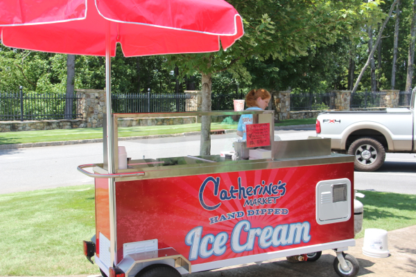 Catherine's Market Lake Martin Ice Cream Cart