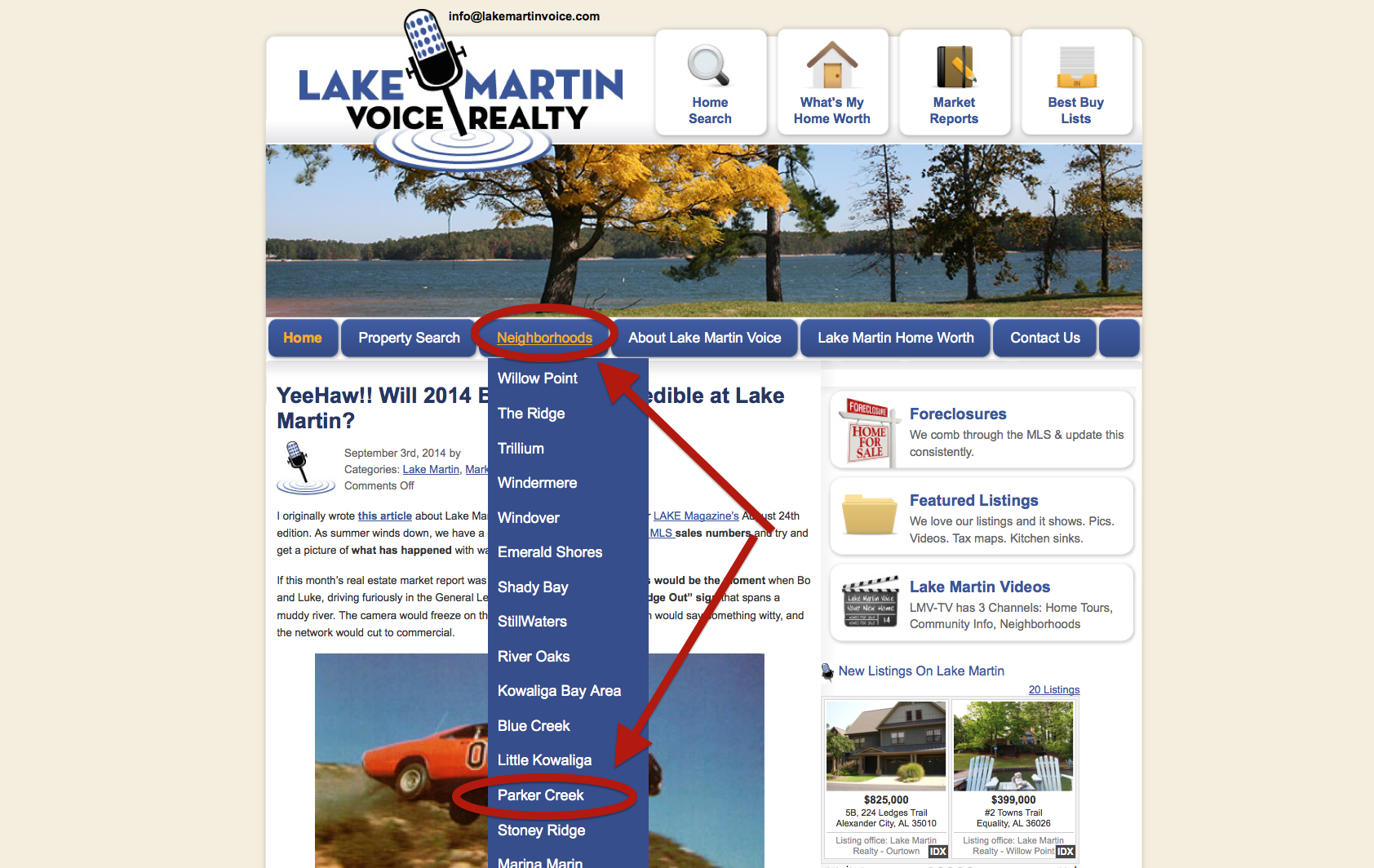 Lake Martin Voice Neighborhood Pages