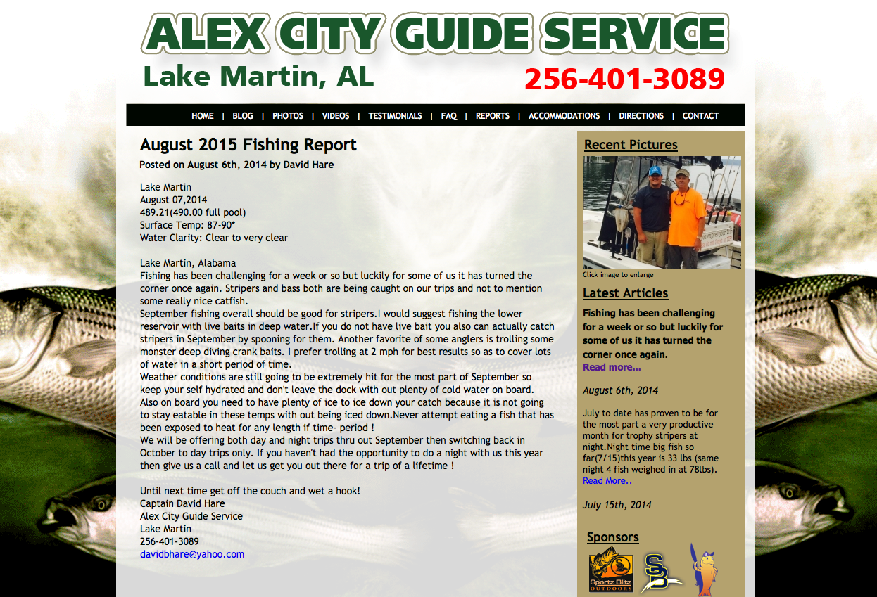 David Hare Striper Fishing Guide Lake Martin