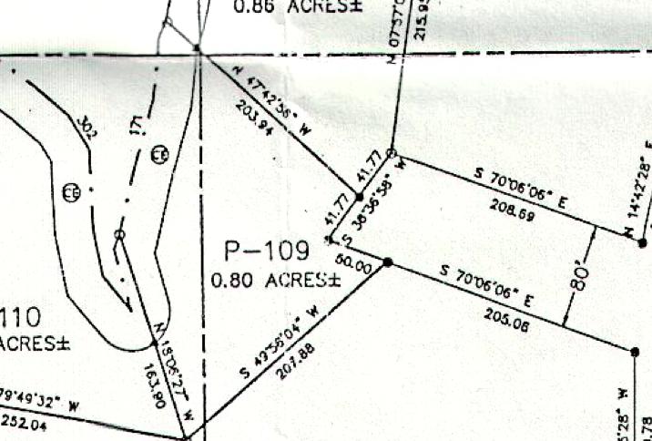 Lot P-109 Plat Map Pace's Peninsula