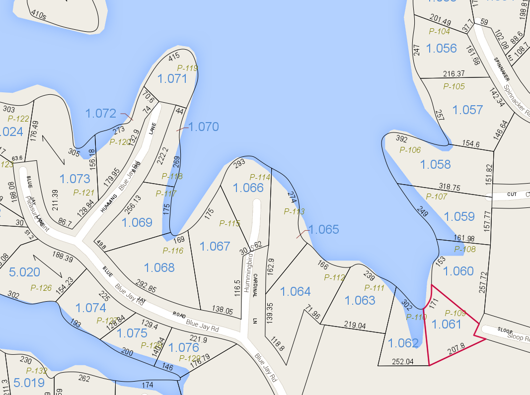 Lot P-109 Pace's Peninsula Tax Map