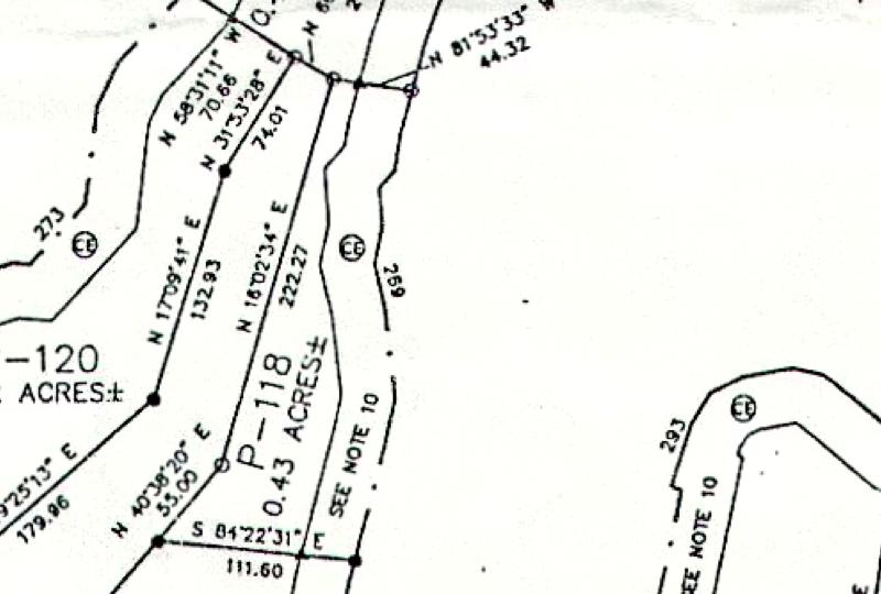 Lot P-118 Plat Map Pace's Peninsula
