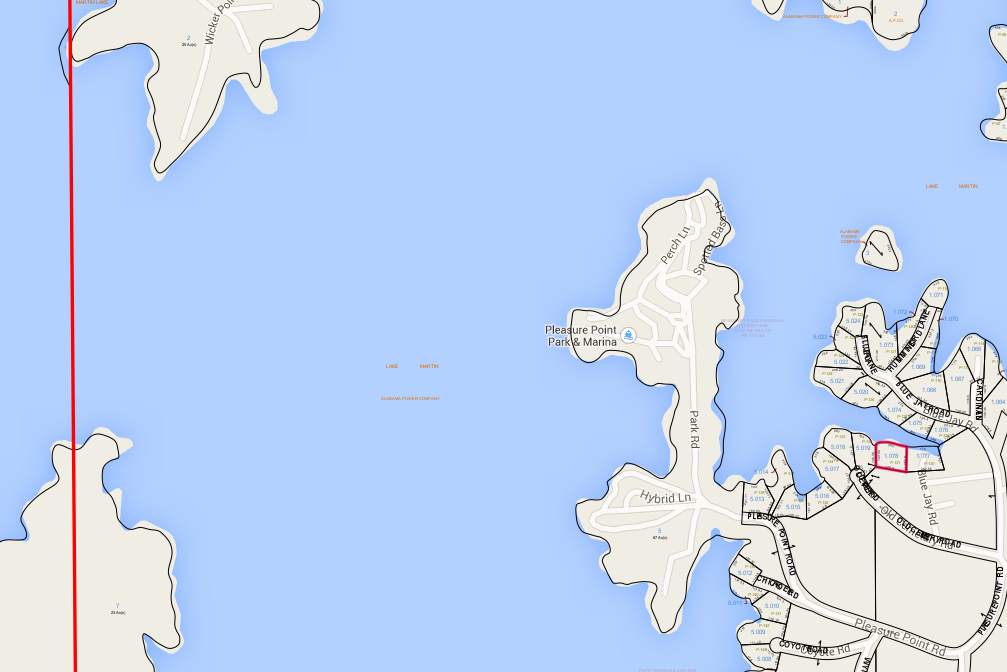 Lot P-131 Tax Map Pacce's Peninsula