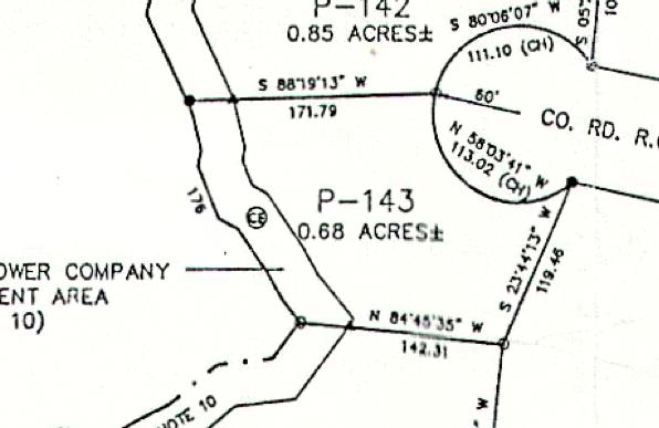 Lot P-143 Plat Map Pace's Peninsula