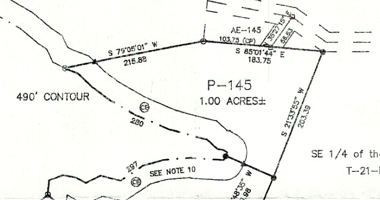 Lot P-145 Plat Map Pace's Peninsula