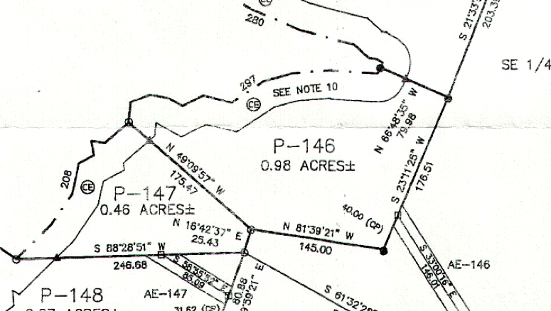 Lot P-146 Plat Map Pace's Peninsula