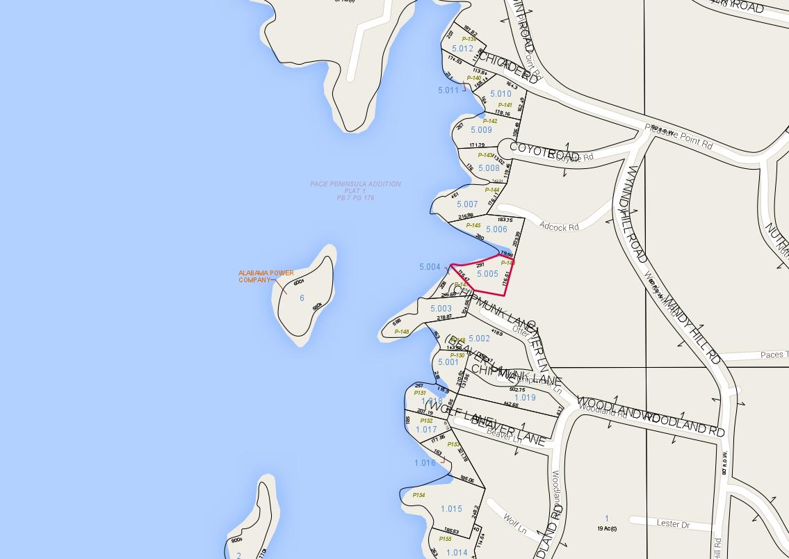 Lot P-146 Tax Map Pace's Peninsula