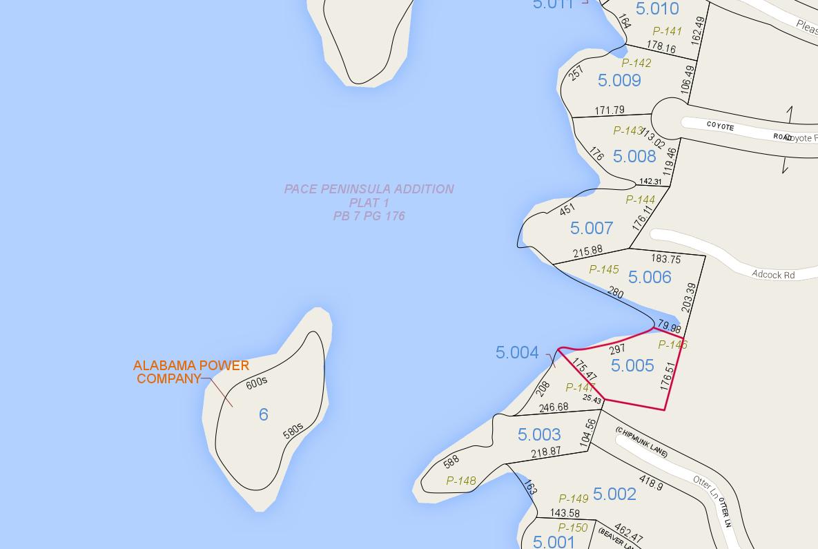 Lot P-146 Tax Map Zoom Pace's Peninsula