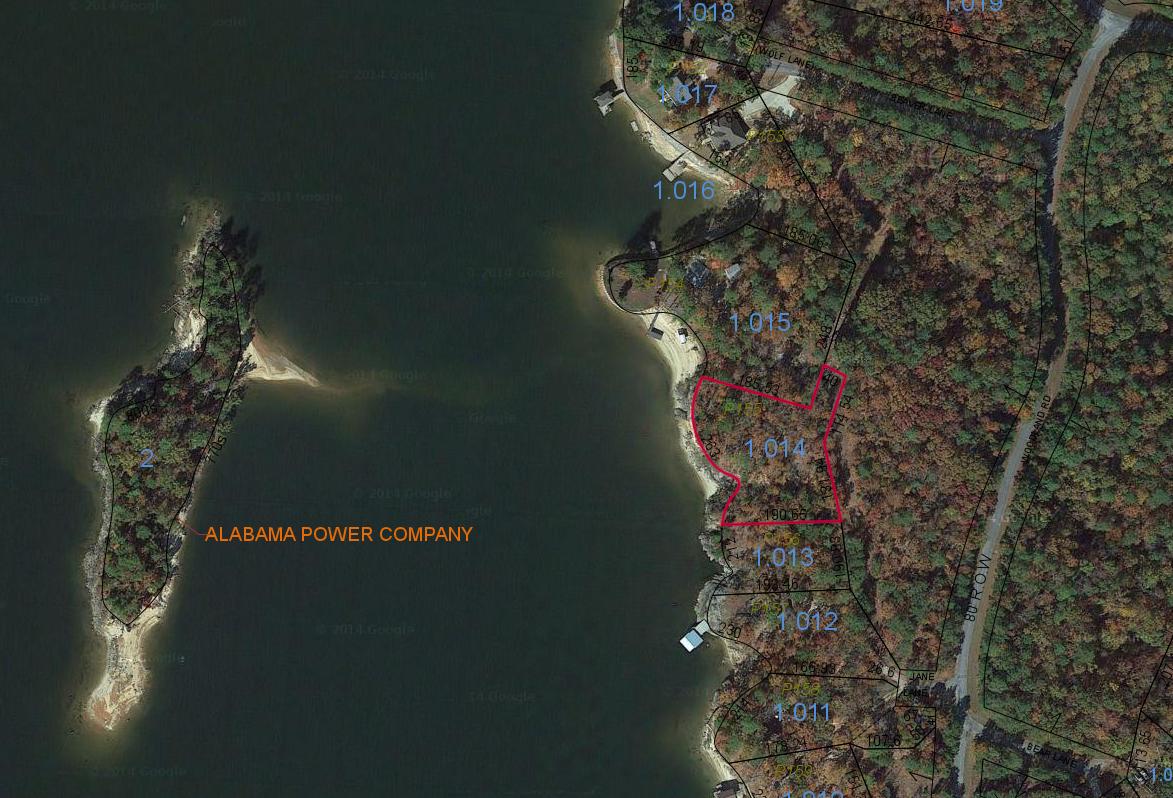 Lot P-155 Sastellite Map Pace's Peninsula