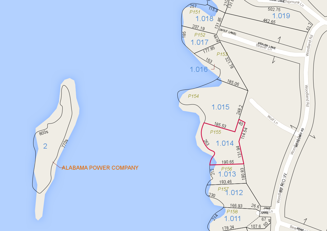 Lot P-155 Tax Map Zoom Pace's Peninsula