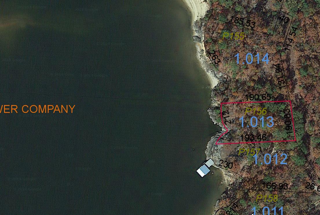 Lot P-156 Satellite Map Pace's Peninsula