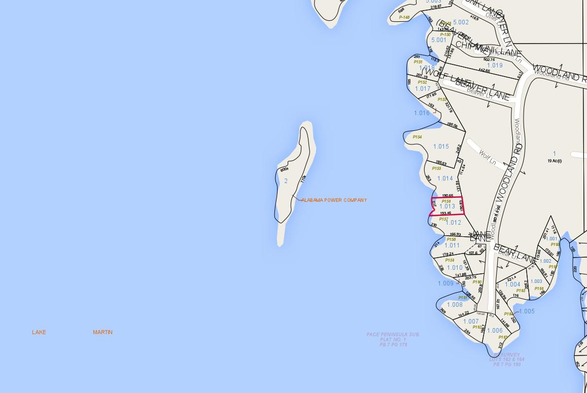 Lot P-156 Tax Map Pace's Peninsula