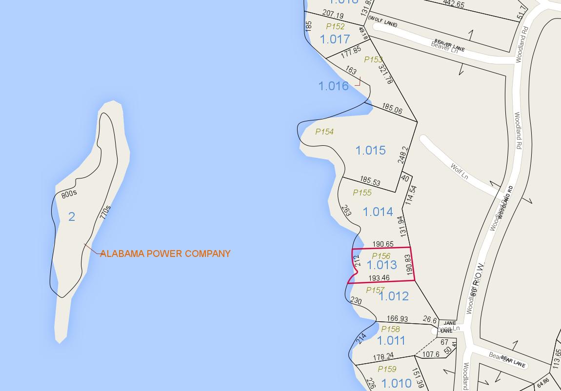 Lot P-156 Tax Map Zoom Pace's Peninsula