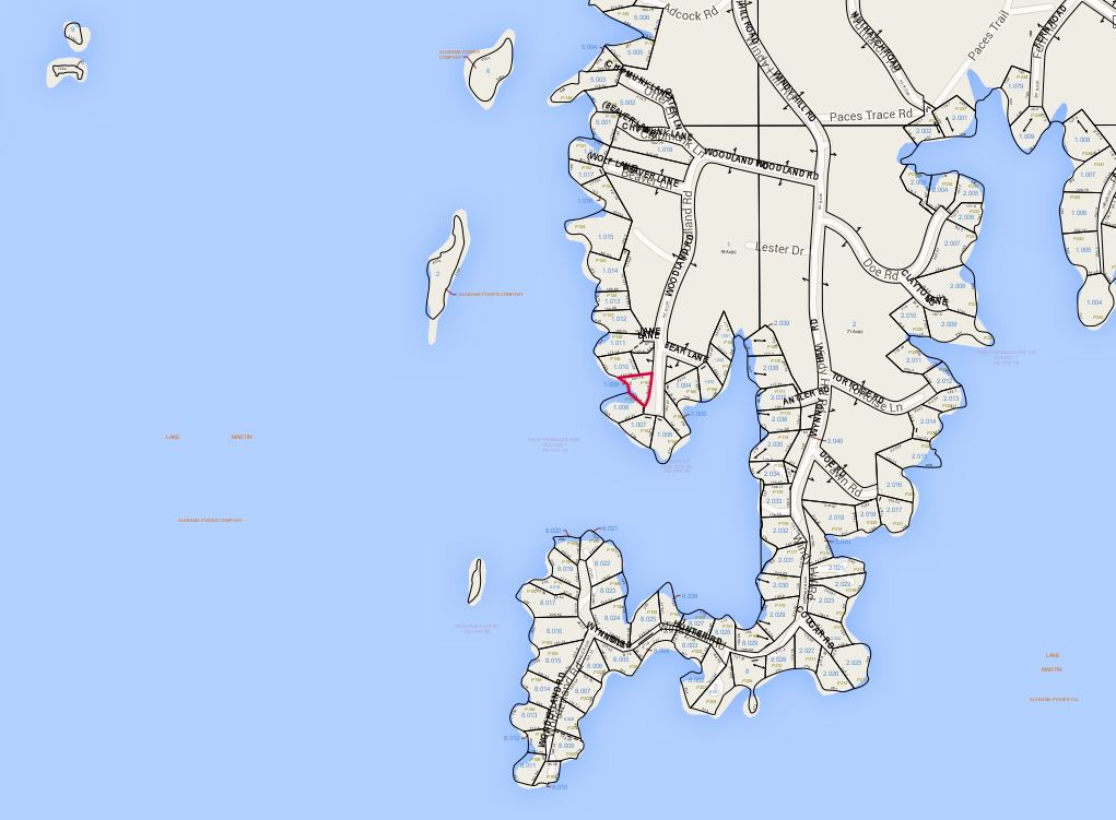 Lot P-160 Tax Map Pace's Peninsula