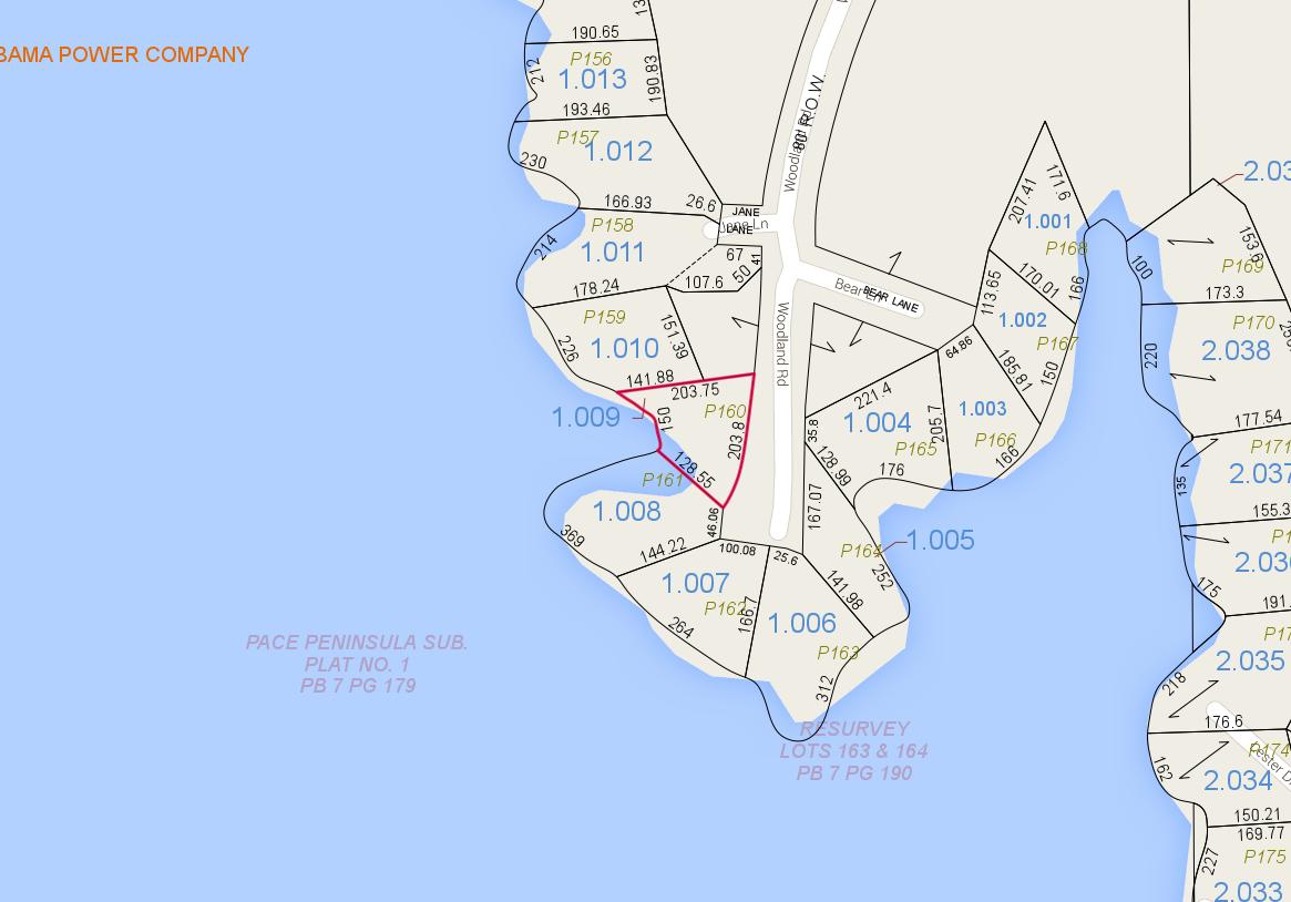 Lot P-160 Tax Map Zoom Pace's Peninsula