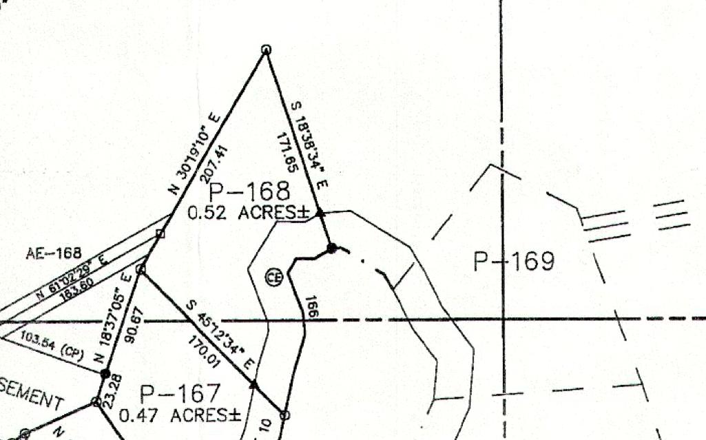Lot P-168 Plat Map Pace's Peninsula