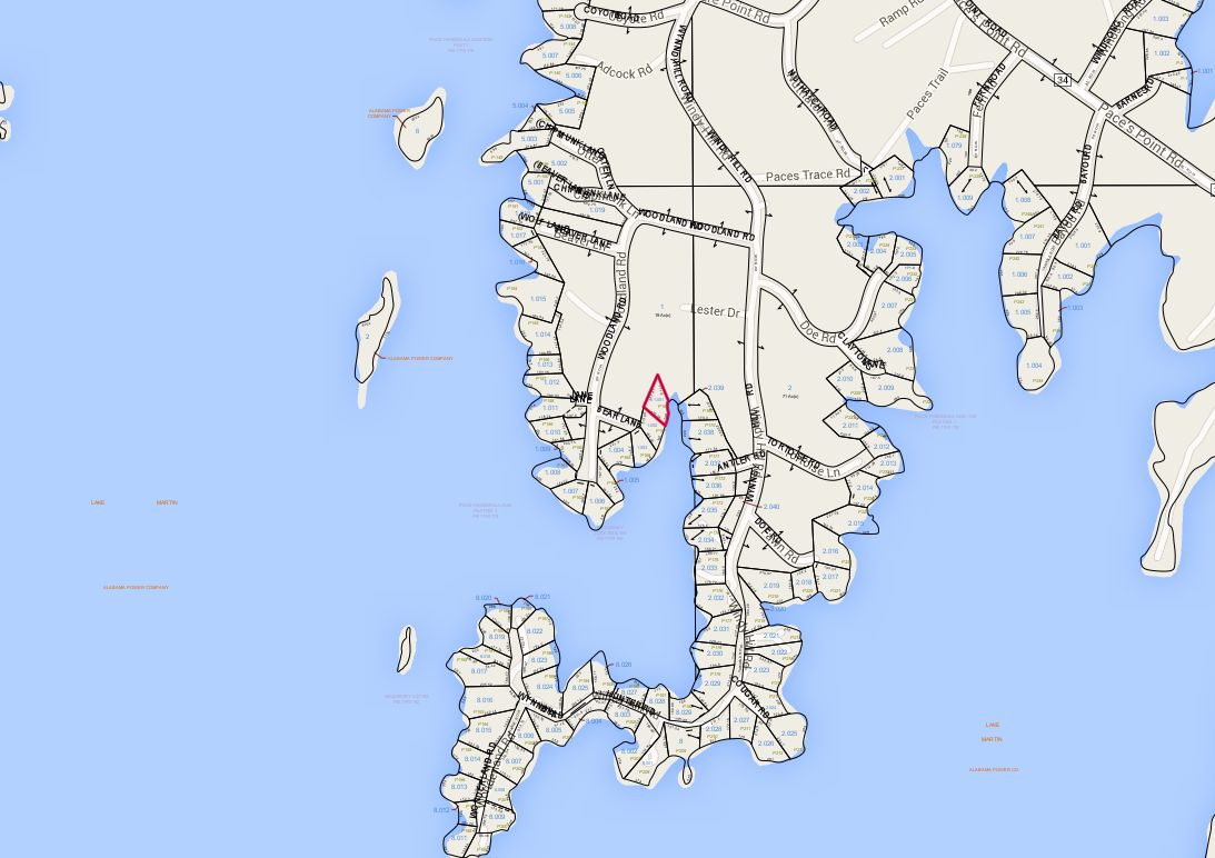 Lot P-168 Tax Map Pace's Peninsula