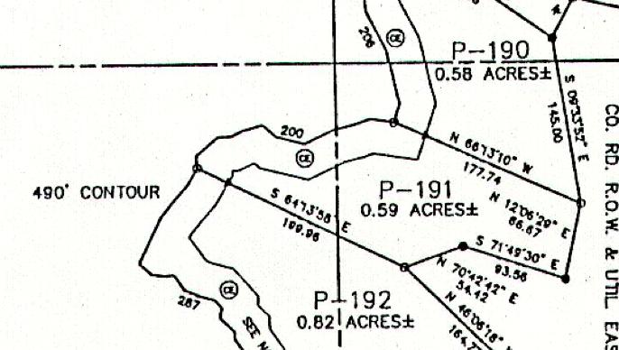 Lot P-191 Plat Map Pace's Peninsula