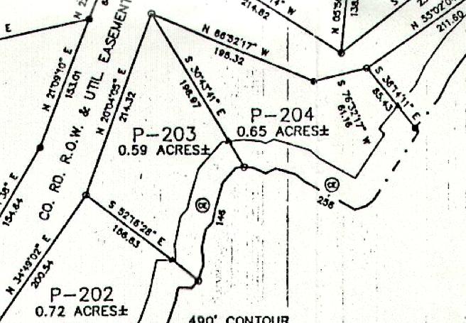 Lot P-203 Plat Map Pace's Peninsula