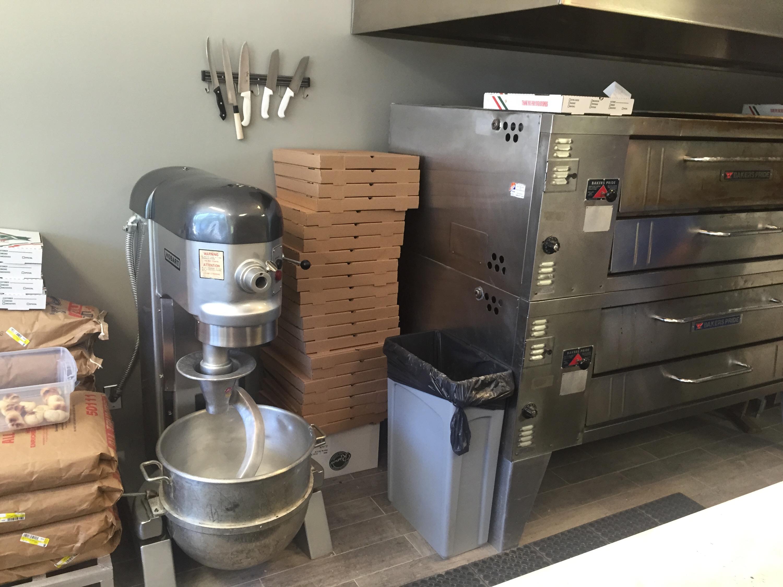 the kitchen at Lake Martin Pizza, Dadeville, AL