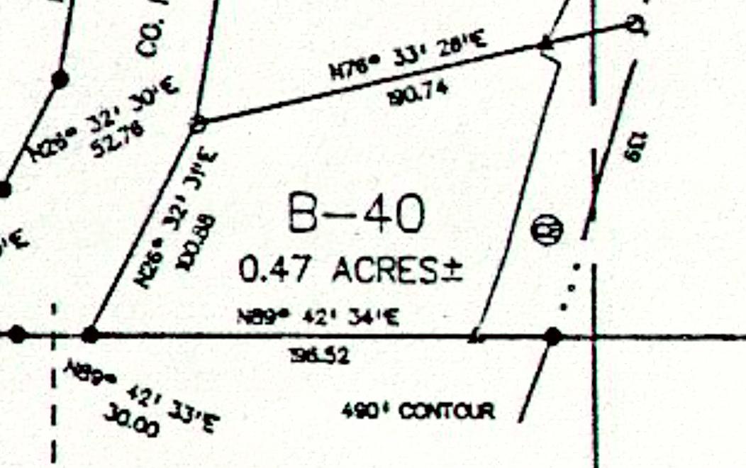 Lot B-40 Tallassee Beach plat map