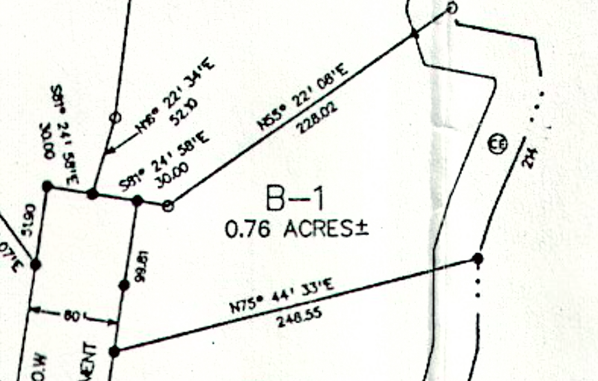 Lot B1 tallassee beach subdivision plat map