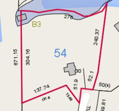 Lot B3 Tallasse Beach Tax map