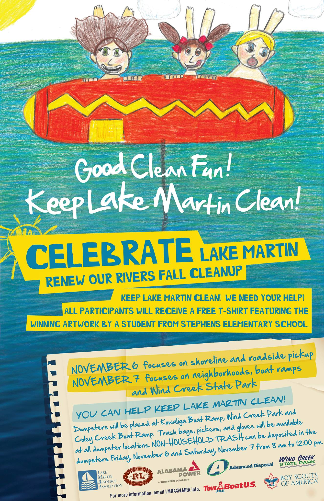 lake martin LMRA cleanup renew our rivers 2015