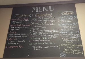 Coffee Corner Food Menu